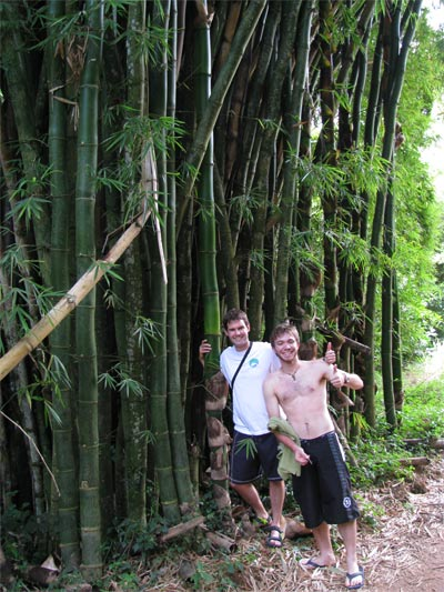 abe and rafael at the big bamboo